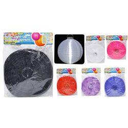 1pce Nylon Cordless Lantern 30cm with 2 LED Globes Great Effect Like Paper Lanterns - Pink