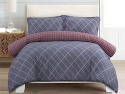 Dreamaker Printed Cotton Sateen Quilt Cover Set Queen Bed Jordan