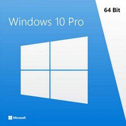 Microsoft Genuine Windows 10 PRO 64 Bit Full Version with DSP OEI DVD Disc & Key - FQC-08929