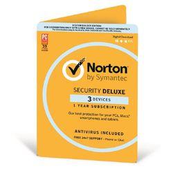 Norton Symantec Security Deluxe 3.0 AU 1 User 3 Device 12 Month CARD ATTACH - 21368742