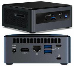 LEADER Intel N13-I7 NUC, Intel i7-10710U, 8GB, 500GB SSD, Windows 10 Professional, 3 Year Onsite Warranty, VESA, W10P, Thunderbolt 3, triple display