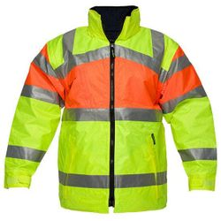 Reversible Hi-Vis Jacket D&N Yellow/Orange XXL Regular