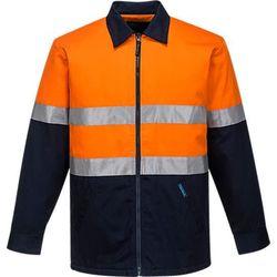 Quilt Padded Cotton Jacket D&N Orange/Navy XXL Regular