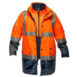 Hi-Vis 3in1 Jacket D&N Orange/Navy Large Regular