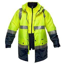 Hi-Vis 3in1 Jacket D&N Yellow/Navy Small Regular