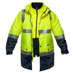 Hi-Vis 3in1 Jacket D&N Yellow/Navy XL Regular