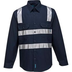 Cotton Shirt Long Sleeve Class N Navy XSmall Regular