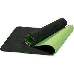 Verpeak TPE Dual Layer Yoga Mat with Yoga Straps Black