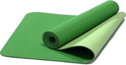Verpeak TPE Dual Layer Yoga Mat with Yoga Straps Lime