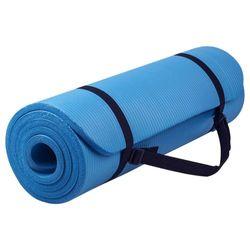 Verpeak 20MM Thick NBR Yoga Mat with Yoga Bag & Straps Blue