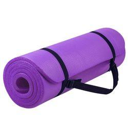Verpeak 20MM Thick NBR Yoga Mat with Yoga Bag & Straps Purple
