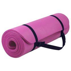 Verpeak 20MM Thick NBR Yoga Mat with Yoga Bag & Straps Pink