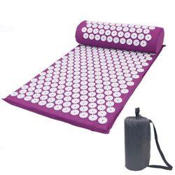 Verpeak Acupressure Mat Pillow Bag Set Yoga Sit Lying Mats Pain Stress Soreness Relax