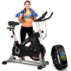 NORFLEX Spin Bike Flywheel Commercial Gym Exercise Home Workout Bike Fitness SLV