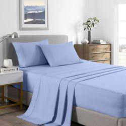 Royal Comfort 2000 Thread Count Bamboo Cooling Sheet Set Ultra Soft Bedding - King - Light Blue