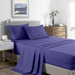 Royal Comfort 2000 Thread Count Bamboo Cooling Sheet Set Ultra Soft Bedding - King - Royal Blue