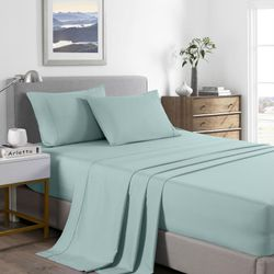 Royal Comfort 2000 Thread Count Bamboo Cooling Sheet Set Ultra Soft Bedding - King Single - Frost