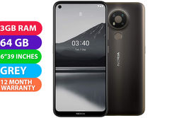 Nokia 3.4 (3GB RAM, 64GB, Grey) - FREE DELIVERY