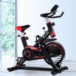 Everfit Spin Exercise Bike Home Workout Equipment Black