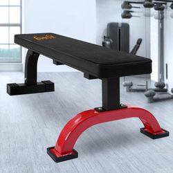 Fitness Flat Bench Weight Press Home Gym Strength Training Exercise