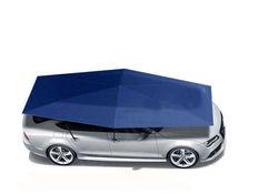 4.5m Car Umbrella Tent Sunshade Manual Navy Blue