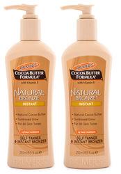 2x Palmer's Cocoa Butter Formula Natural Bronze Instant Bronzer 250ml