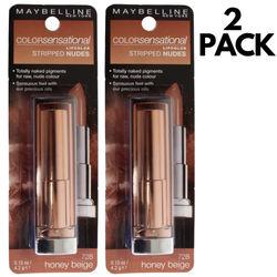 2pcs Maybelline 4.2g Color Sensational Lipstick Nude Lip Stick - 728 Honey Beige