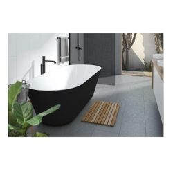 Decina Elinea 1500mm Freestanding Bath Black/ White EL1500B