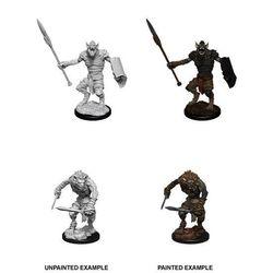 D&D Unpainted Nolzur's Marvelous Miniatures Gnoll & Gnoll Flesh Gnawer