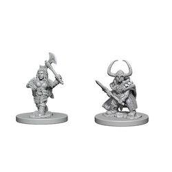 D&D Unpainted Nolzur's Marvelous Miniatures Dwarf Female Barbarian