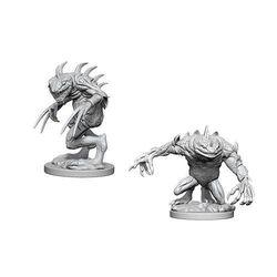 D&D Unpainted Nolzur's Marvelous Miniatures Gray Slaad & Death Slaad