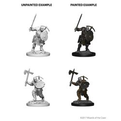D&D Unpainted Nolzur's Marvelous Miniatures Earth Genasi Male Fighter