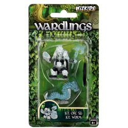 Wardlings Ice Orc & Ice Worm Pre-Painted Miniatures