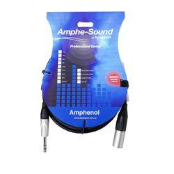 Amphenol ACJ6 6M 3pin Male XLR to 6.35mm TRS Jack Audio Cable