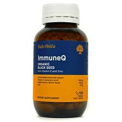 Hab Shifa Immune Q Organic Black Seed with Vitamin C & Zinc 120 Caps