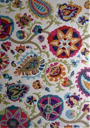 Juliet Multicolour Cream Floral Design Modern Floor Rug 155x225cm
