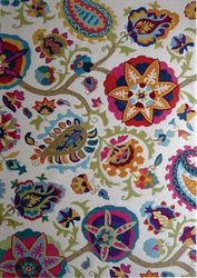 Juliet Multicolour Cream Floral Design Modern Floor Rug 200x290cm