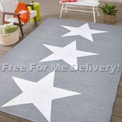 Chill Pvc Indoor/Outdoor Grey Stars Floor Rug (L) 180x270cm