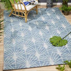 Lincoln Firework Pattern Design Blue Modern Floor Rug 160x230cm
