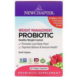 New Chapter, Weight Management Probiotic, 10 Billion CFU, 60 Vegan Capsules