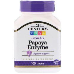 21st Century - Papaya Enzymes Chewable Formula 100 Tablets
