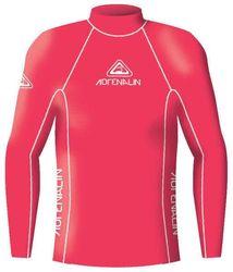 Adrenalin Junior Rash Vest Lycra Long Sleeve High Visibility 2 Red