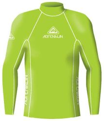 Adrenalin Junior Rash Vest Lycra Long Sleeve High Visibility 10 Lime