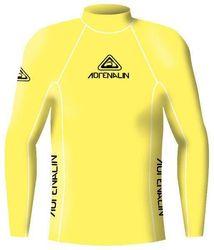Adrenalin Junior Rash Vest Lycra Long Sleeve High Visibility 12 Yellow
