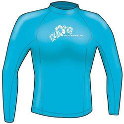 Adrenalin Ladies Rash Vest Lycra Long Sleeve 12 Aqua