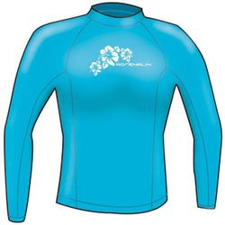 Adrenalin Ladies Rash Vest Lycra Long Sleeve 16 Aqua