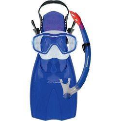 Mirage Shrimp Junior Silitex Mask, Snorkel & Fins Set Large Blue