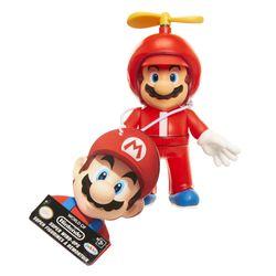 World of Nintendo Propeller Mario Wind-Up 2 Inch Figure