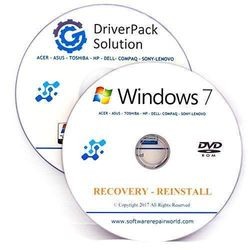 Windows 7 Home Premium 64 Bit Recovery Repair Restore plus Drivers Pack DVD No Internet Required Disc