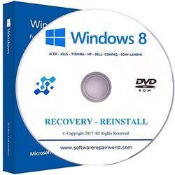 Windows 8 Professional 64 Bit Repair Restore DISC DVD CD DISK Laptop Computer PC